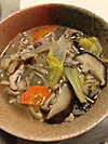 Kinoko_pork_vegitable_soup