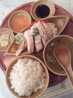 チキンライス(<br />  蒸し)@海南鶏飯(<br />  ハイナンチーハン)